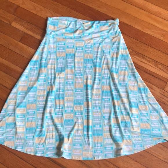 LuLaRoe Dresses & Skirts - LuLaRoe Azure unicorn cassette tape 80s skirt L